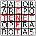 Palindromic Latin Word Square, the Sator Square